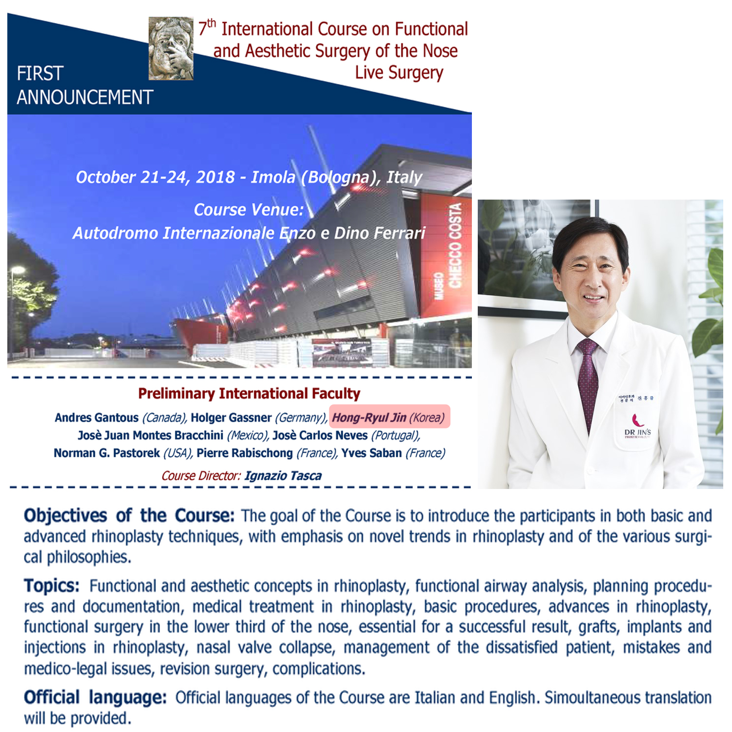 International course on Functional and Aesthetic surgery of the nose live surgery copy