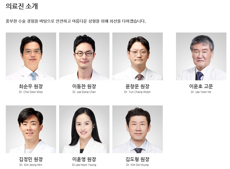 View plastic surgery clinic Korea
